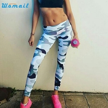 Camouflage Women Leisure Activing   YOGA Running Sport Tight Pants Skinny Leggings Fitness Trouser 2017A3X15