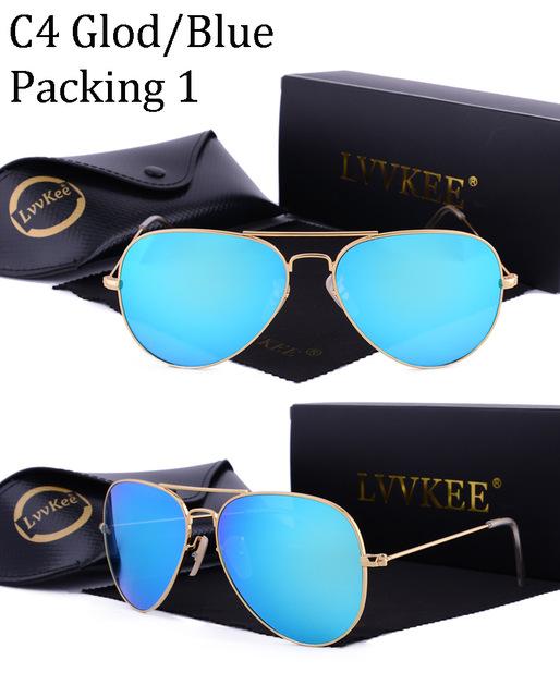08100f4151 ... Hot Classic Brand Aviator glass lenses Gradient sunglasses men women  Mirror sun glasses Male 58mm G15 ...