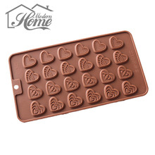 4 Style Heart Shape Jelly Fondant Cake Chocolate Mold For Cake,Chocolate Dining Bar Decorating Baking Tool Kitchen Accessory DIY