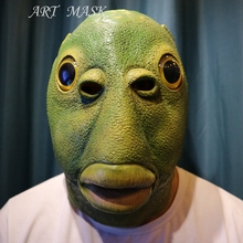 Scary Monster Latex Fish Mask Creature from the Black Lagoon Cosplay Merman Props Adult Halloween Masks(China)