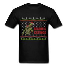 Zombie Season's Eatings Funny Ugly Sweater Men's T-Shirt Retro 100% Cotton Print Shirt Tee Cool Funny T-Shirt High Quality Tees(China)