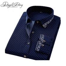 DAVYDAISY Casual Shirt Men Autumn Social Print Dress Slim Fit Long Sleeve Shirt Male Brand Clothing Chemise Homme 4XL DS-165(China)