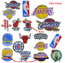 kongwal 2017 Fashion Personality Embroidery Trendy Basketball Teams Clothing DIY Patches NBA Fans Souvenirs 5 pcs/lot(China)