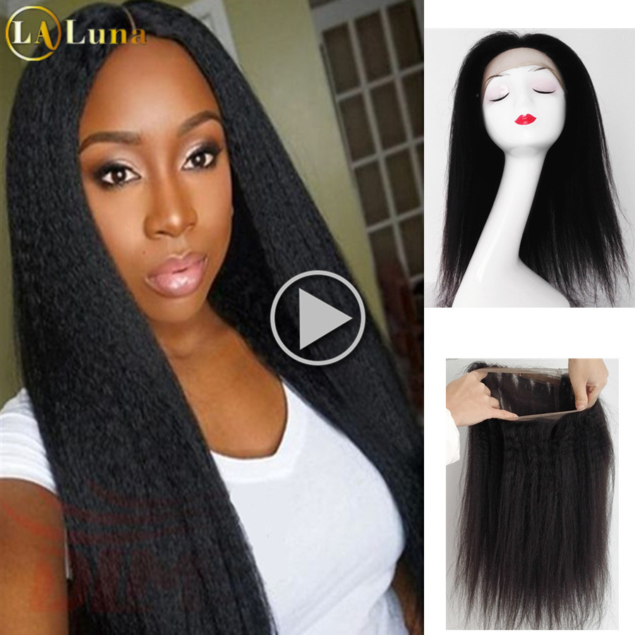 360 Lace Virgin Hair Brazilian Kinky Straight 360 Lace Frontal 8A Brazilian Virgin Hair With Closure 360 Full Lace Frontal 360<br><br>Aliexpress