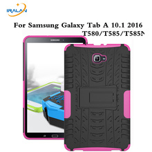 T580Nes For Samsung Galaxy Tab A 10.1 Case T580 T585 Hyun Armor Silicone Kickstand 10.1 inch cover + film+stylus