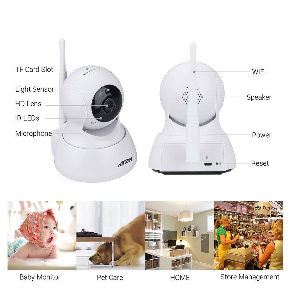 H.VIEW 720P IP Camera 1200tvl Surveillance Camera PTZ CCTV Cameras Camara iOS Android Remote View IP Wifi Cameras (19)