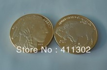 1pcs/lot 1oz Gold clad  .999 $50 USA Buffalo Souvenir coins ,Gold Bullion Coins