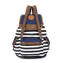 Striped Travel Rucksack School Bag Tracking No. & A Exclusive Gift(China)