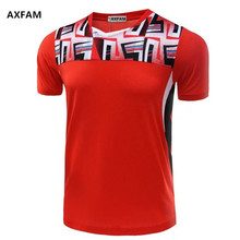 AXFAM Men Tennis Shirts Breathable Quick Dry V-neck Sports Athletic Shirt High-quality Badminton Table Tennis clothing NM5052