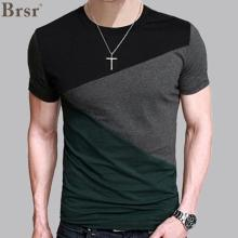6 Designs Mens T Shirt Slim Fit Crew Neck T-shirt Men Short Sleeve Shirt Casual tshirt Tee Tops Mens Short Shirt Size M-5XL(China)