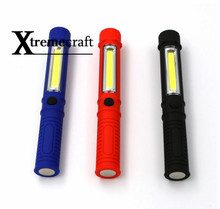 Xtremecraft LED Flashlight COB Led Portable Plastic Perfect Torch Lamp With Magnetic And Clip For Camping Outdoor Sport Light(China)