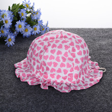 Baby Girls Princess Hat with Floral Pattern Bucket Hat Sun Hat Cute Beach Hat Cap