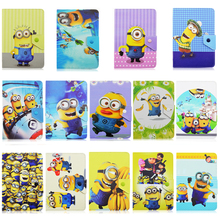 Minions Despicable me 2 Universal 10.0 inch Tablet PU Leather Stand Cover Case For Ipad for Samsung Galaxy Android Tablet Gift