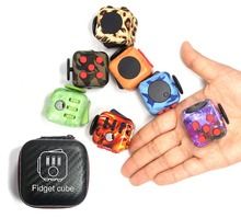 Fidget Cube a vinyl desk toy relieves stress 2016 New Fidget Magic Cube focus toy for children and adult gift oyuncak for kids(China)