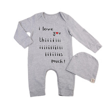 Buy 2pcs Newborn Baby Rompers Cotton Newborn Baby Boys Romper Long Sleeve Autumn Winter Jumpsuits Solid Hats Outfits Clothes Sets for $4.82 in AliExpress store