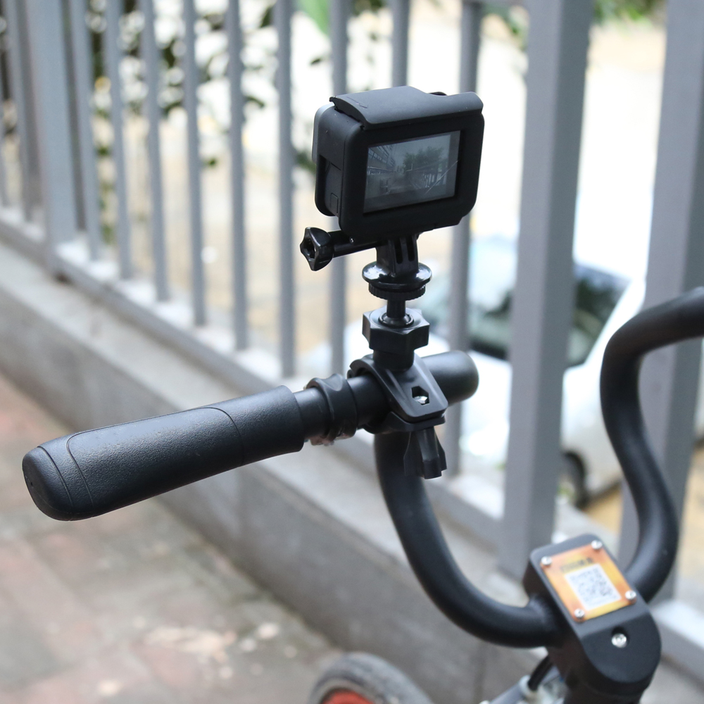 SHOOT O Shape Handlebar Seatpost Clamp Mount For GoPro Hero 5 4 6 Xiaomi Yi 4K SJCAM SJ4000 h9 DV Camera Cycling Accessories