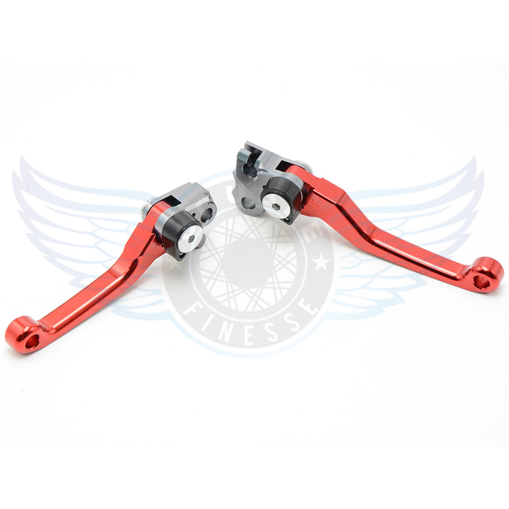 red Motorcycle Accessories One Pair Top Quality CNC Pivot Brake Clutch Levers For Honda CRF150R 2007 2008 2009 2010 2011 2012<br>