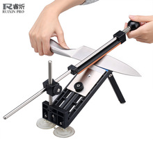 Ruixin Pro Knife Sharpener Update Professional Kitchen Knife Sharpener System 4pcs Whetstones Apex Edge Pro with Suction Cups