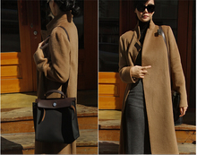 Women Cashmere Coat Spring Autumn Coat Long Fashion Elegant Wool Trench Coat Camel Brown Black Overcoat Wool Coats