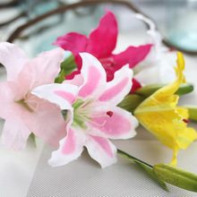 10pcs/lot 62cm French perfume Lily artificial fake silk flower party home garden wedding decoration