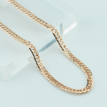 FJ 4mm Men Women 585 Gold Color Necklace Curb Cuban Chains 45cm-60cm Jewelry(China)