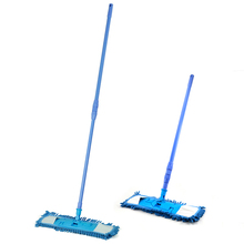 New Extendable Microfibre Mop Cleaner Sweeper Wet Dry - Blue