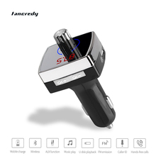 Wireless Bluetooth4.2 FM Transmitter FM Modulator Bluetooth Handsfree Car Kit LED Voltage Monitor car MP3 Player USB Car Charger