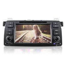 GPS Navigation Single Din Quad-Core DU7062 Car DVD Stereo Video Player Android 5.1 Automobile In-dash DVD for BMW E46 Car DVD