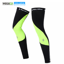 WOLFBIKE Cycling Leg Warmers 2017 New Winter Men & Women Ciclismo Bicycle Cycling leggings bike warmers 2 Colors Knee Warmer(China)