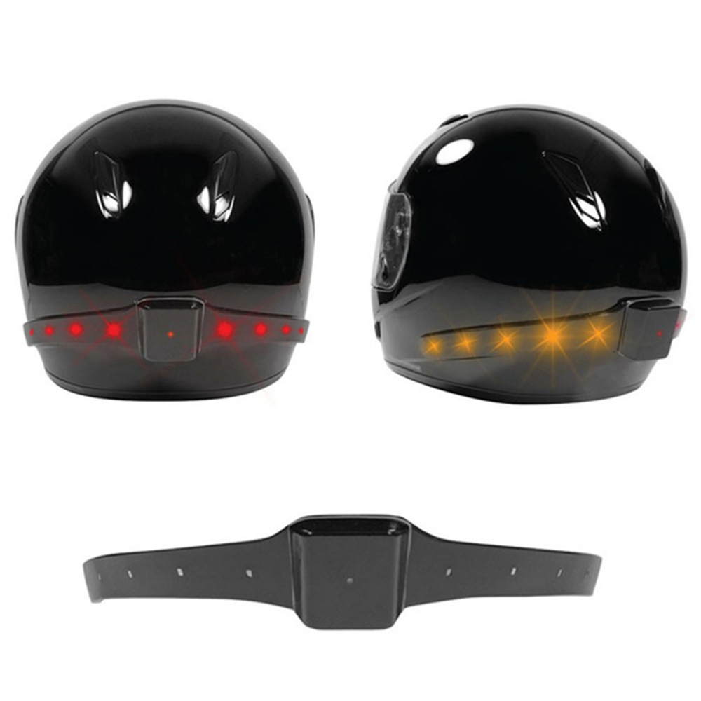 Smart Motorcycle Helmet Light Intelligent Turn Signal LED Security Warning Light Wireless Receiving Lights Bicycle Helmet Lamps(China)