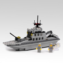 Navy destroyer Chaser Battleship model Fight inserted Building Blocks Kids Educational toys brain game toy brick gift(China)