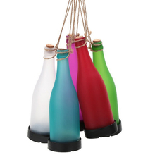Pack of 5 Solar Powered LED Bottle Lamp Hanging Glass Wine Bottle Landscape Lights for Garden Yard Lawn Party Decor(China)