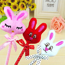 Cute cartoon animal expression plush rabbit ball point pen 0.5mm blue ink(China)