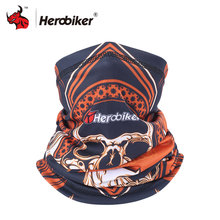 HEROBIKER Motorcycle Scarf Skull Mask Bandana Motorcycle Neck Warmer Motorcycle Ski Caps Bicycle Scarf Moto Mask Mascara Moto(China)