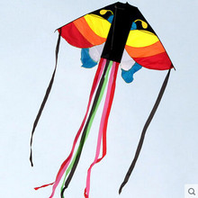 Free Shipping Outdoor Fun Sports 2015 NEW Power Butterfly Kite /Animal Kites With Handle And Line Good Flying(China)