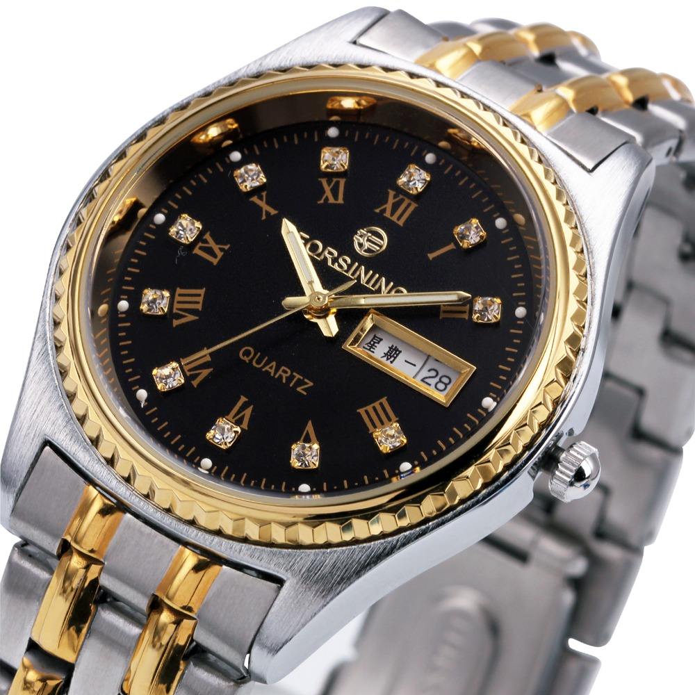 2017 WINNER Top Luxury Men Wrist Watches Stainless Steel Band Male Quartz Clock with Crystal Decoration with Calendar Date<br><br>Aliexpress