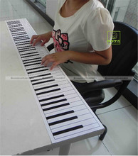 1:1 88 Key Standard Paper Piano Keyboard For Beginner Piano Practicing JDS 71515003