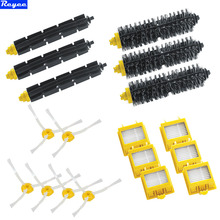 Replacement 6x HEPA Filter + Side Brush Kit +3 Bristle and Flexible Beater Brush for iRobot Roomba 700 Series 770 780 790