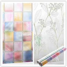 Hot 2M X45cm FROSTED GLASS FILM PRIVACY STATIC CLING WINDOW STICKER COVERING VINYL(China)