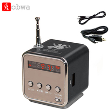 Kobwa TD-V26 Mini Speaker Portable Digital Stereo Sound Micro SD / TF FM Radio Music Player for Laptop Mobile Phone MP3 Mp4 play