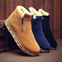 Men Causal Shoes Winter snow fur boots male boots tidal current casual cotton-padded shoes martin boots men causal shoes w11