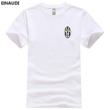 EINAUDI 2017 Summer Fashion Juventus T Shirt Men's Short Sleeve 100% Cotton Printed T-Shirt Mens Funny Harajuku Juventus Tops