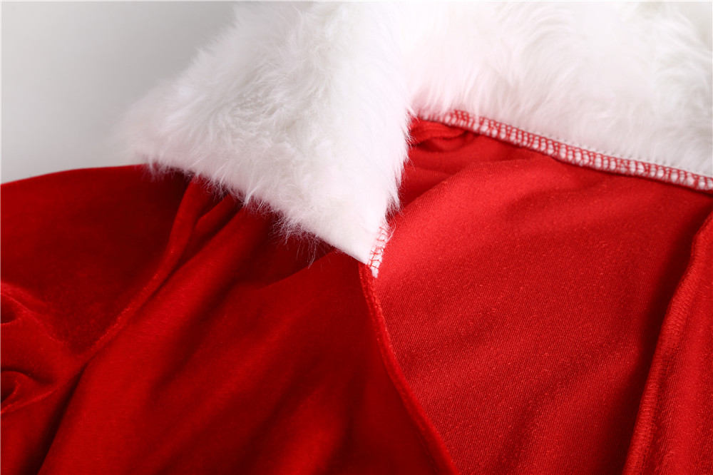 New Hot Sexy Red Christmas Santa Claus Cosplaying Cap Adults Winter Long Dresses Halloween Costumes For Women Lady Sexy Lingerie