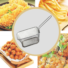 New Kitchen Cooking Tools Mini Stainless Steel French Fries Fry Fryer Basket Small Square Shape Kitchen Supply Face Point Tool(China)