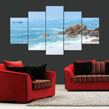 Modern Wall Art Painting Unframed Sea Beach Canvas Picture Fashion Artwork Print Home Decorations 5 Pieces
