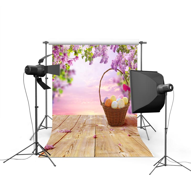 2017 new spring easter photography backdrops basket flower eggs new born baby children photographic background Easter Day P1184<br><br>Aliexpress