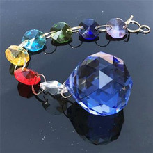 1 Pc Imixlot Colorful Rainbow Suncatcher Crystal Prisms Ball Pendant Hanging Trendy Bag Charm Home Decoration