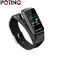 POTINO Bluetooth Smart Band Talkband B7 Heart Rate Monitor Smart Watch Bracelet Sport Health Band with Music Player Answer Call(China)