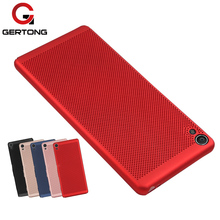 Buy GerTong Hard PC Full Cover Phone Bag Case Sony Xperia XA XA1 XZ Protective Back Heat dissipation Breathing Cases Housing for $1.25 in AliExpress store