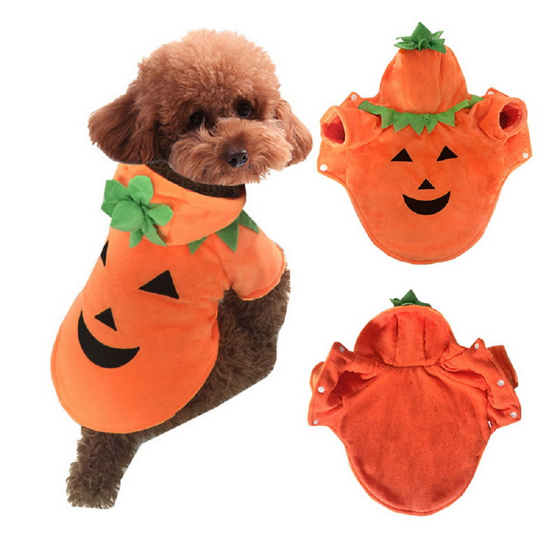 fashion pumpkin pet dogs clothes dog warm coats winter jacket for big dogs halloween costume large